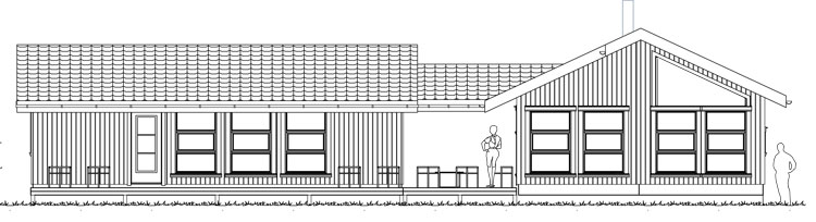 Freia arkitektskisse foran